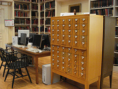 Photo taken by Andrea Mercado: Card Catalog, Digital Catalog