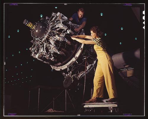 LOC Woman Airplane Photo