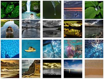 Flickr: water tag clusters