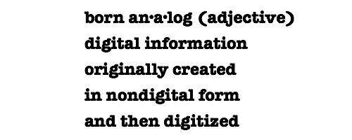 Born Analog Logo
