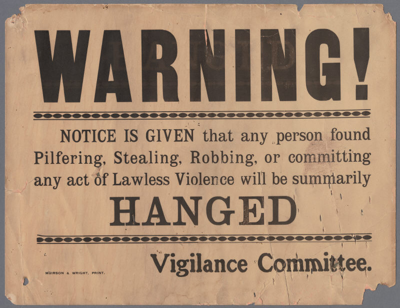 Calisphere: Vigilance Committee Warning, April 1906