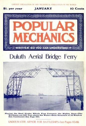 Google Book Search: Popular Mechanics Jan 1905 Cover Image