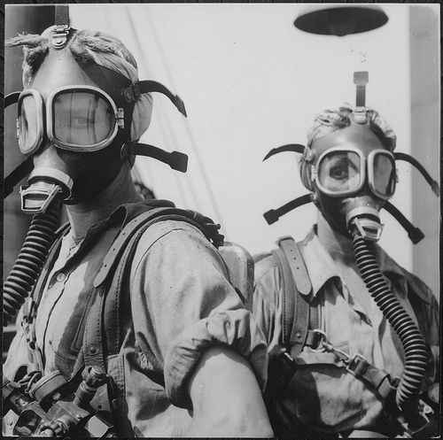 Ladies in Gas Masks